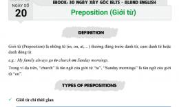 Ngày 20: Preposition (giới từ)