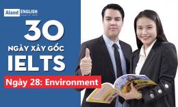 Ngày 28: Environment (Từ vựng Band 7.5 IELTS theo chủ đề)